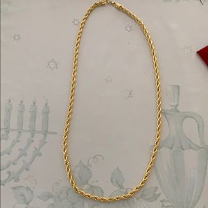 Long chained twist style necklace. Stainless steal